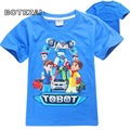 2017 new boy cartoon T-shirt short-sleeved shirt children's T shirt TOBOT summer boys T-shirt children's T-shirt short-sleeved