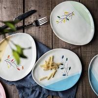Carino Fiori forma waterdrop piatti di cibo per il cibo piatto cena insieme di 4 pz 20 cm (7.5 pollici)