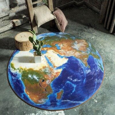 Kreative Globalen Dorf Teppiche Lunar Rooftop Studie Halle Runde Wohnzimmer Tisch Schlafzimmer Computer Stuhl Zimmer