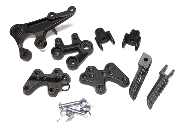 For 05 14 Suzuki GSXR1000 GSXR 1000 Front Footpegs Foot pegs Footrest Rests Pedals Bracket BLACK