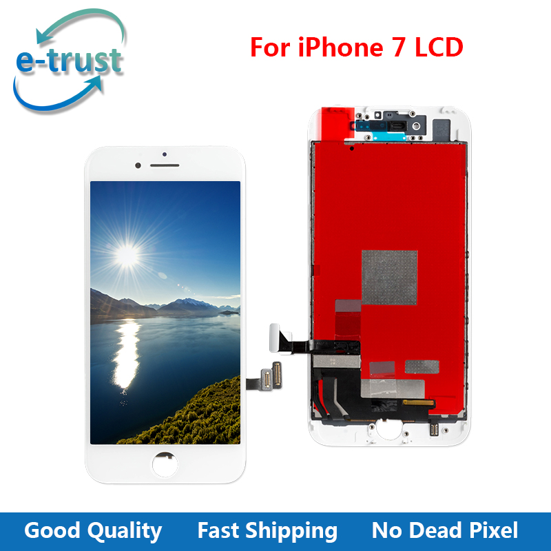 5Pcs Lot GradeAAA Quality For IPhone 7 4 7 Inch LCD Display Touch Screen Assembly No