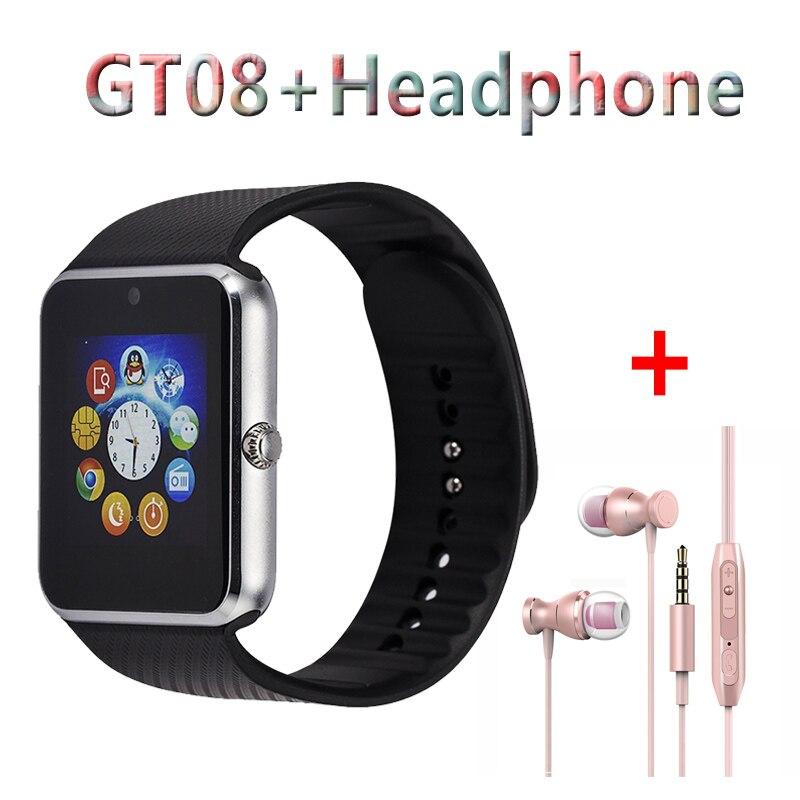 imágenes para Gt08 Reloj Smartwatch Inteligente de Pantalla Táctil Inteligente Relojes Con El Reloj de La Cámara Y la Tarjeta Sim Android 2017 Ruso Reloj de Los Hombres