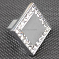 New K9 Crystal Cabinet Drawer Knobs Modern Cabinet Handles Furniture Hardware Kitchen Knobs Wardrobe Closet Pulls Bars