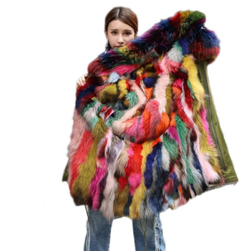 Multi Chaud Vraie Design Femmes Italie Mode Fourrure Manteaux Gardez F1JTlcK
