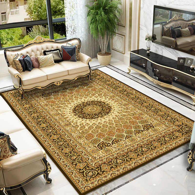 Ковер в персидском стиле для украшения дома, ковер для гостиной, тонкий бархатный ковер для спальни, диван, журнальный столик, коврик для Кабинета