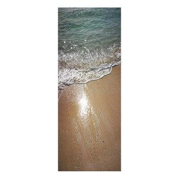 Bord de mer plage mer scène porte autocollants pour enfants chambre chambre décoration de la maison bricolage sticker Mural Art