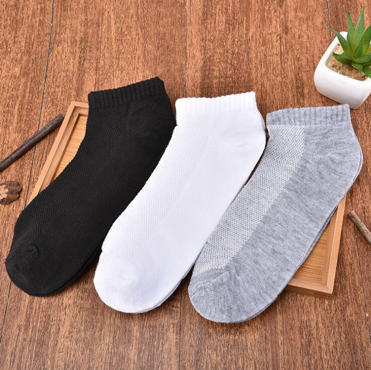 ankle socks small net casual Polyester cotton elastic short ship Breathable for summer spring men man male boy Wh