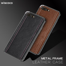 Metal Frame Leather Case for IPhone XS Xr X Xs Max Coque Luxury Slim Cover for Apple 6 6s 7 8 Plus 7plus 8plus 6plus Xsmax x s r(China)