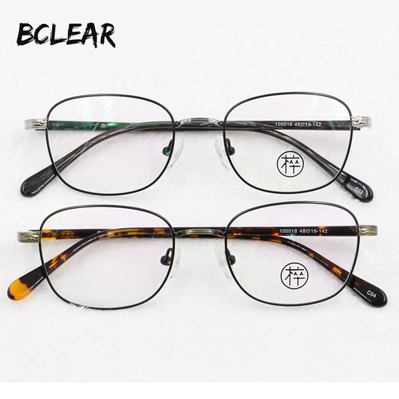 BCLEAR New arrival brand retro alloy eyeglasses most popular oval optical frame for man and women unisex fashion eyewear 100016