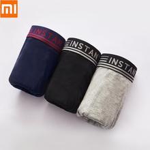 Xiaomi instant me antibacteriano respirável legal boxer briefs confortável roupa interior de algodão homem calcinha masculina