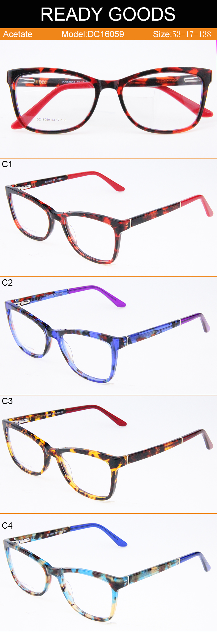 Modern Japanese Acetate Spectacle Frame Custom Logo Printing Glasses ...