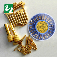 Dental Gold Plated Screw Post 120pcs With 2Key Dental Screw Post Dental Supplies Dental Materials Free