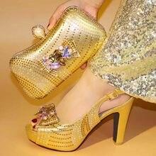 d68207b65 Novas Mulheres Chegada Conjunto de Sapatos e Bolsas Para Combinar Itália  Sapato e Bolsa para o Partido Nigeriano Nigéria Mulhere.