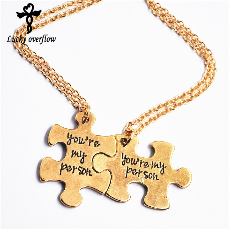 2018 New Letters Carving Pendant Necklaces Special Nice Gift Lovers Couples Necklace Jewelry Accessories You Are My Person