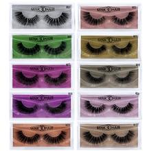 1 pair of 3D eyelash extension mink eyelashes handmade reusable natural supplies makeup