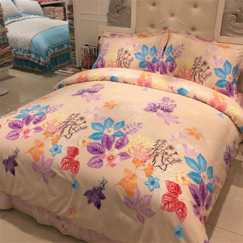Four pieces of bedding sets Cotton sanded thickening Cotton Garden Suite