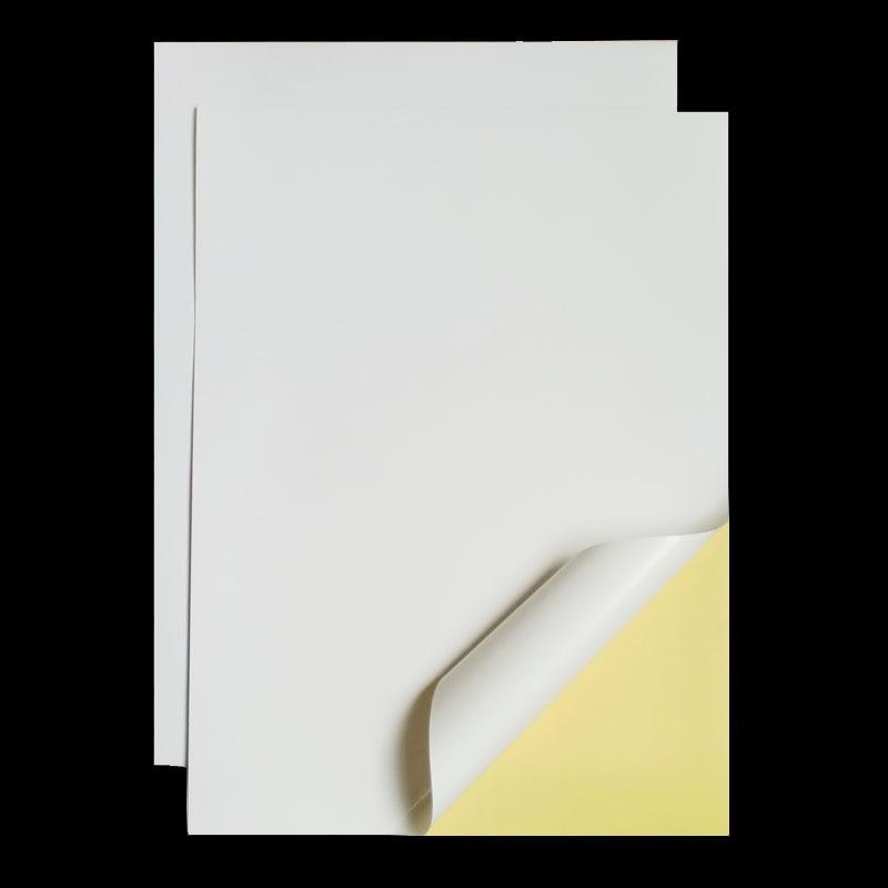 A4 210mm X 297mm Matt White Self Adhesive Easy Peeling