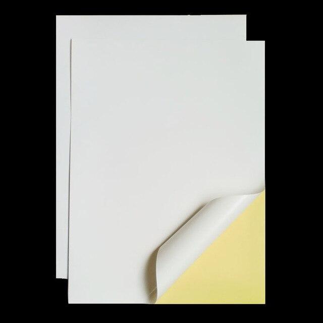 A4 210mm x 297mm autoadhesivo blanco mate fácil de pelar papel adhesivo imprimible para impresora de inyección de tinta 2 a 90 hojas