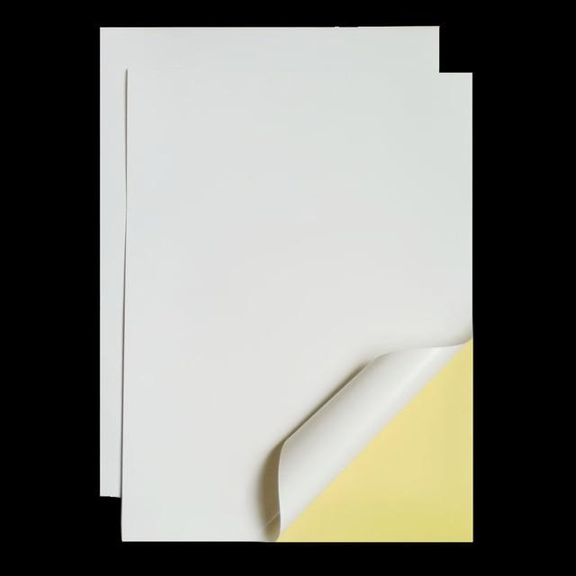 A4 210mm x 297mm blanco mate adhesivo Peeling fácil etiqueta imprimible de papel para impresora de inyección de tinta 2 a 90 hojas