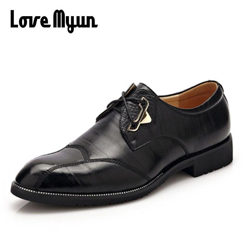 2018 popolnoma novi moški poslovni obleki čevlji poročni čevlji modni poudarjeni čevlji moški čipke iz pravega usnja čevlji iz mehkega usnja WA-11