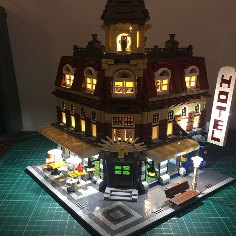 Led Light Set For Lego Building City Street 10182 Cafe Corner Model Toys Compatible 15002 Blocks Creator City Street Lighting    (1)