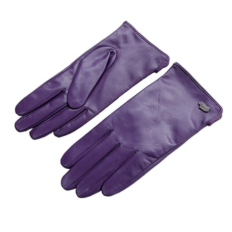 Livraison gratuite mode femmes gant avec des gants courts en cuir véritable hiver gants en peau de chèvre