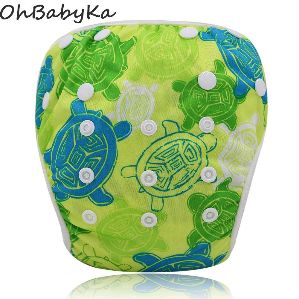 Swim Diapers Baby Swimwear Girls 2016 Brand Swimsuit Diapers Reusable Adjustable Baby Swimsuit Diapers Boy Cartoon Baby Diaper