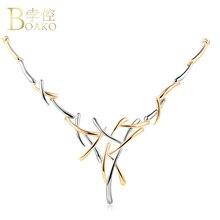 BOAKO Silver/Gold Cross Neckalce Metallic Choker Statement Necklace For Women Punk Style Female Party Jewelry bijoux Z1