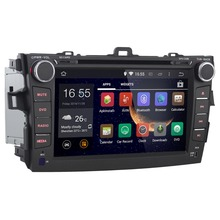 "Quad Core 1024*600 8"" Android 4.4 Car dvd gps navigation for Toyota corolla 2007 2008 2009 2010 2011 3g WiFi Autoradio radio tv"