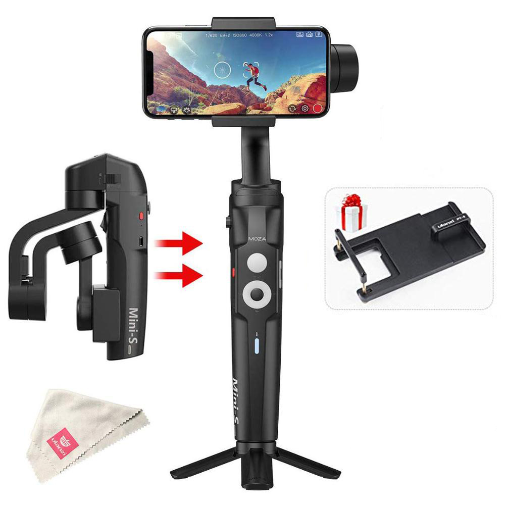 RU Stock Moza Mini S Foldable 3 Axis Gimbal Vlog Stabilizer for iPhone X 8p Huawei