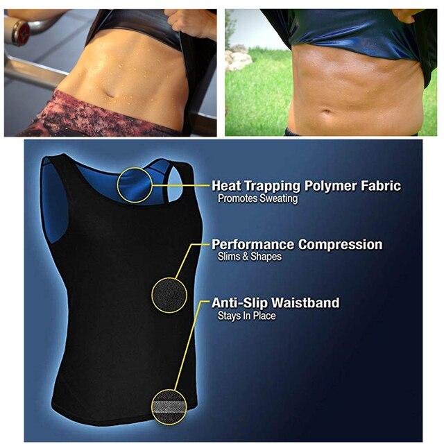 Postpartum Belly Belt Women Sweat Shaper Men's Premium Workout Tank Top Slimming Polymer Weight Loss Sauna Vest Corset Bandage 4