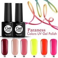 Paraness Long Lasting Nail Gel Polish Glitter Hybrid Colorful Gel Lacquer Soak Off 29 Color Shine UV Gel Nail Varnish Art