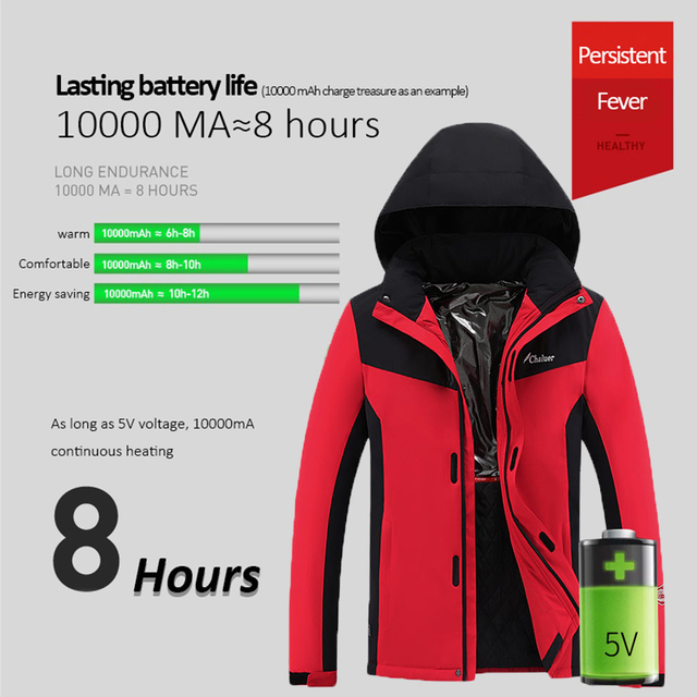 Winter Heated Jackets For Men Women Keep Warm Outdoor Hiking Jackets Windproof Thermal Climbing Skiing Fleece Coat M-4XL 3