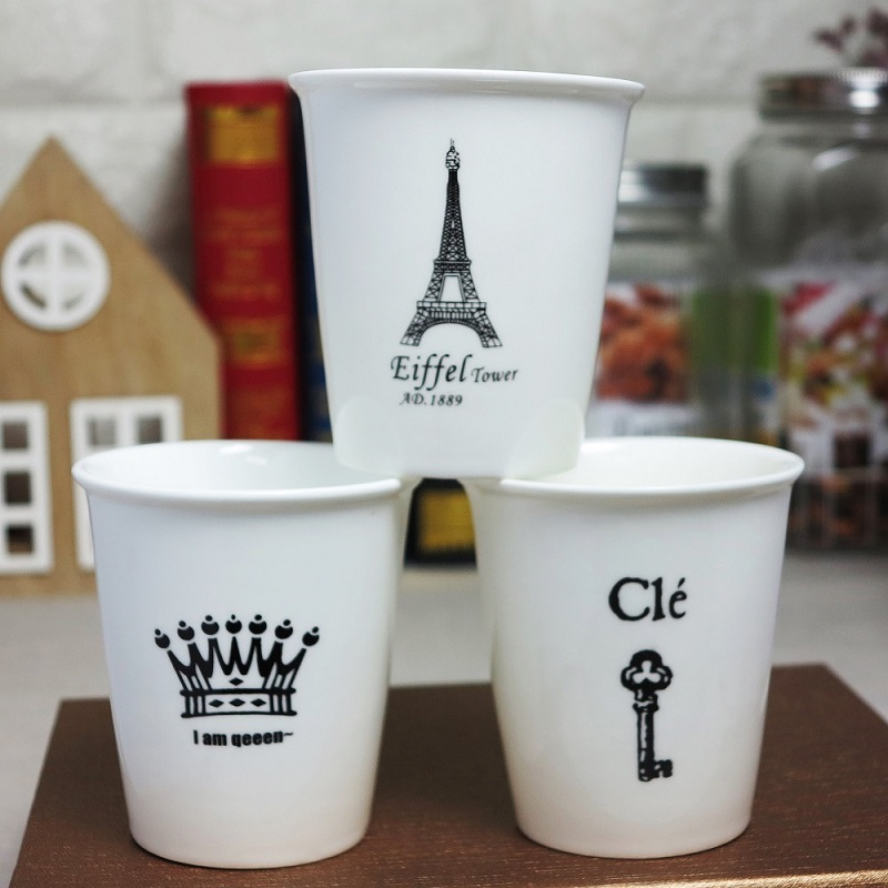 Eiffel Tower key Queen Crown Funny Novelty travel mug Ceramic white coffee milk tea mug cup Birthday Christmas gifts