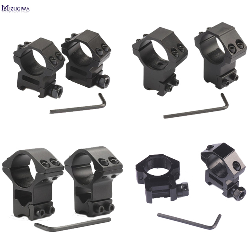 2 pièces 25.4mm/30mm chasse lunette de visée anneau de montage 11MM queue d'aronde/20 MM Picatinny Rail haut ou bas Air fusil portée montures