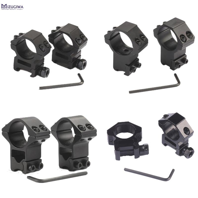 2PCS 25.4mm / 30mm Hunting Riflescope Mount Ring 11MM Dovetail  / 20MM Picatinny Rail High Or Low Air Gun Rifle Scope Mounts