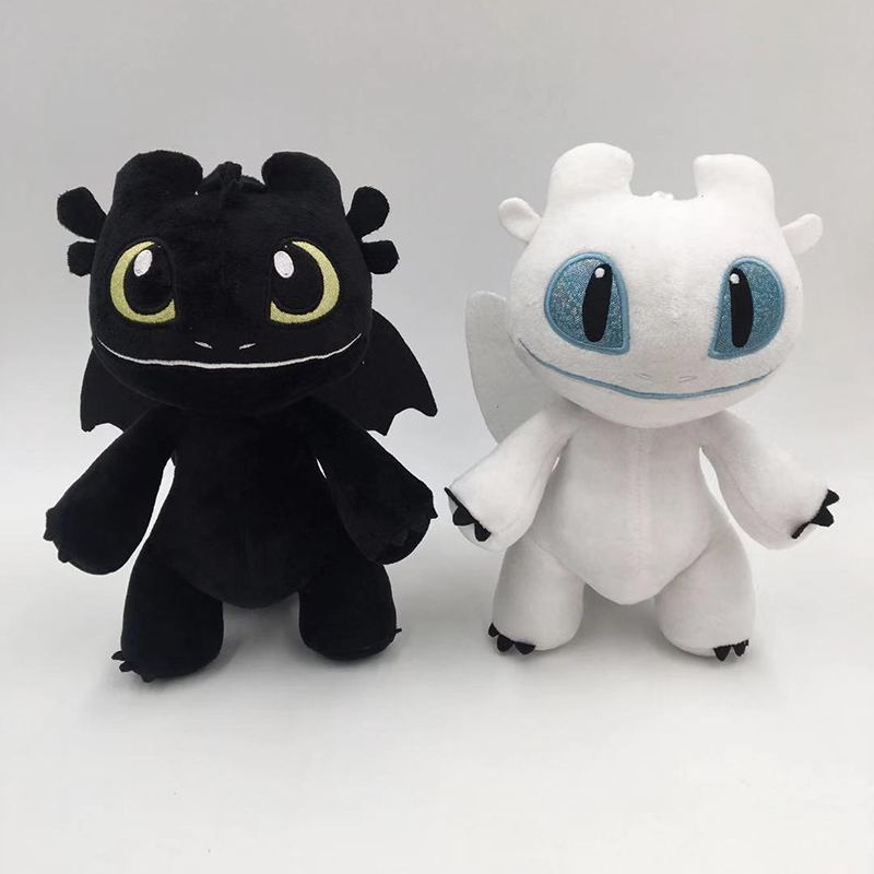 20cm How To Train Your Dragon Toys Night Fury plush Toothless Light Fury Anime Figure Dragon