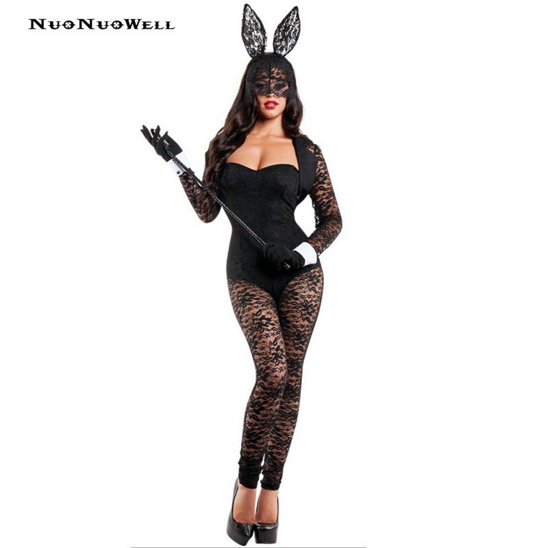 Nuonuowell Bunny Girl Rabbit Costumes Women Cosplay Sexy -1815