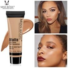 Miss Rose brand makeup matte wear liquid foundation maquiagem 4 colors face cream base fond de teint concealer MS073