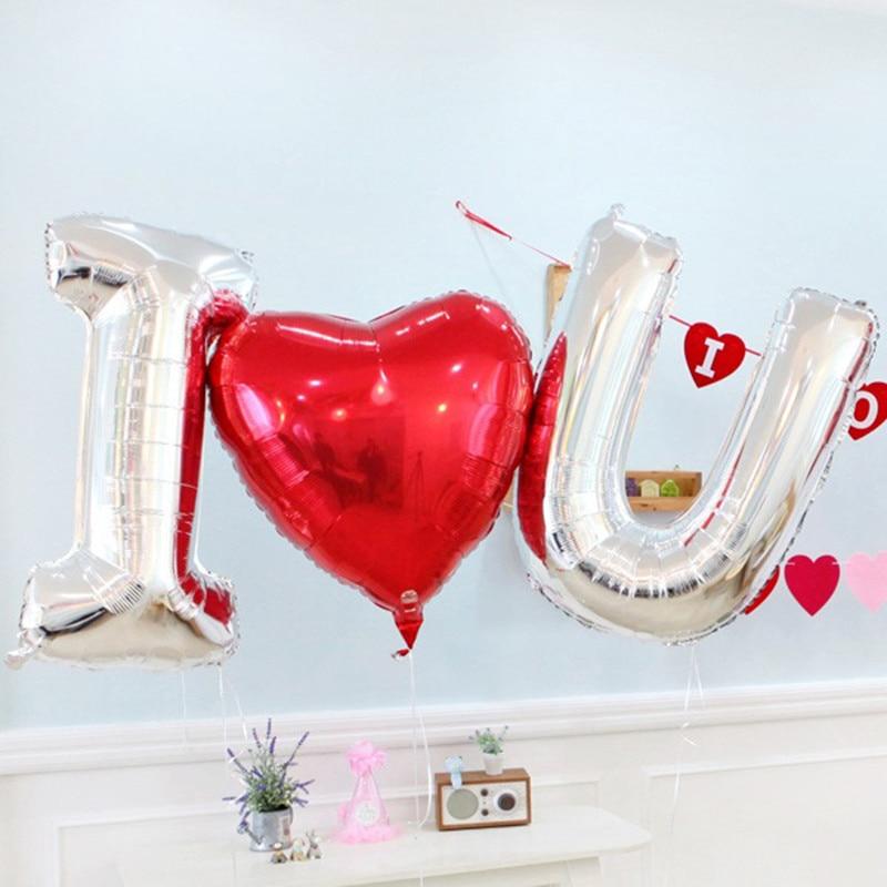 Воздушные гелиевые шары с надписью «I love U mariage», украшение на свадьбу, День Святого Валентина, вечерние товары