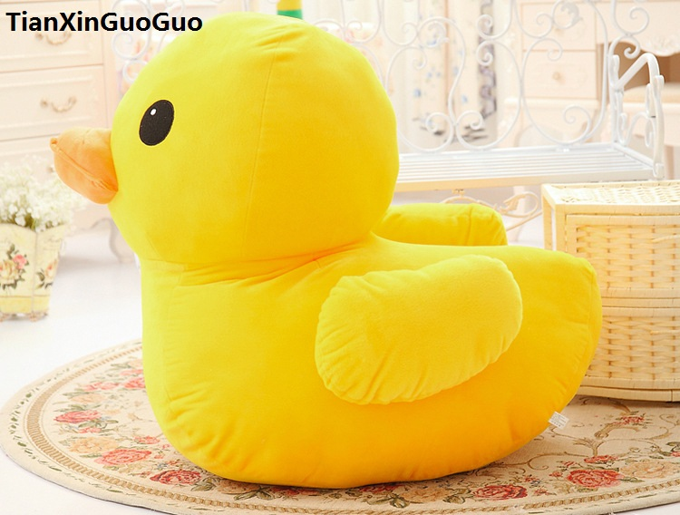 fillings plush toy large 80cm yellow duck plush toy cartoon duck soft doll hugging pillow birthday gift s0894 banana shaped plush doll toy with sound effect for pet yellow