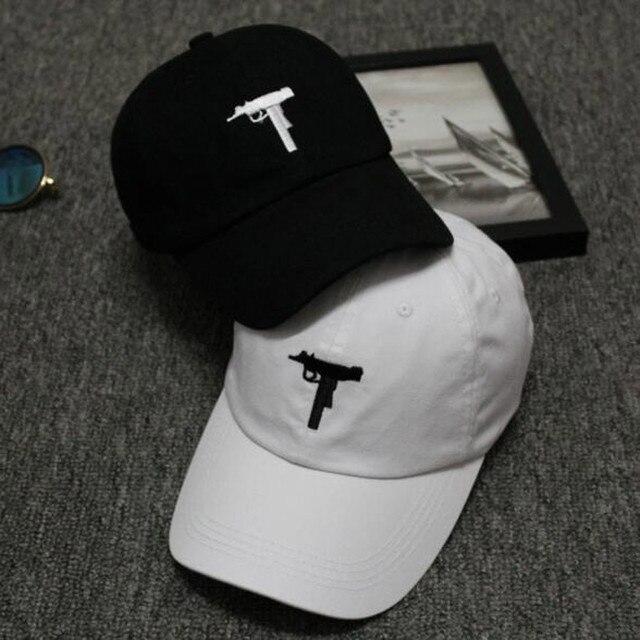New Top selling Uzi Gun Baseball Cap US Ak47 Snapback Cap Hip hop Black  White Hat bdbccbfd50a8
