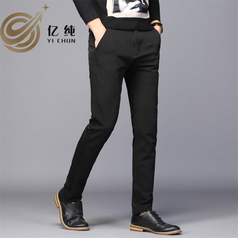Casual Men Pencil Pants Fashion Full Length Long Trousers Men Jeans Denim Male Softener Cow Boy Style Solid Mens Trousers