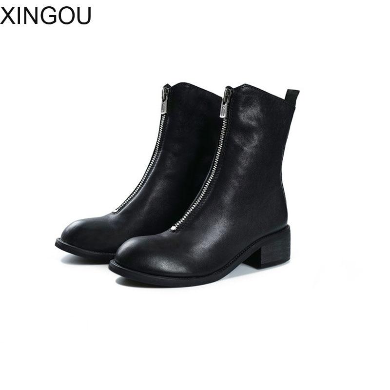 Здесь продается  High Quality Genuine Leather women boots Fashion 2018 Martin women