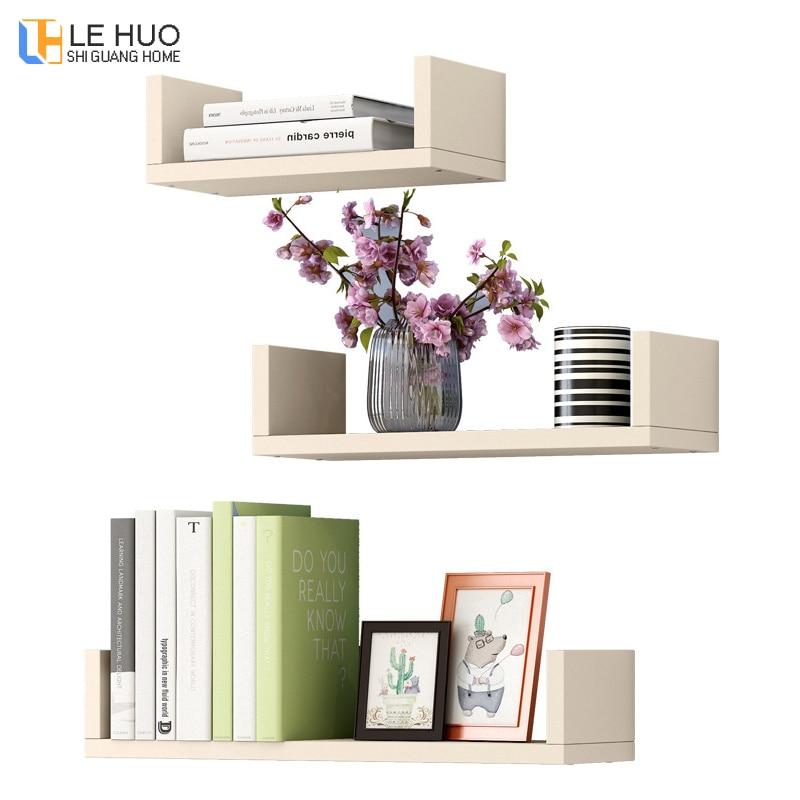 3pcs/sets Wooden Combination Bookcase Wall shelf organizer Storage bookshelf Punch free installation living room Furniture