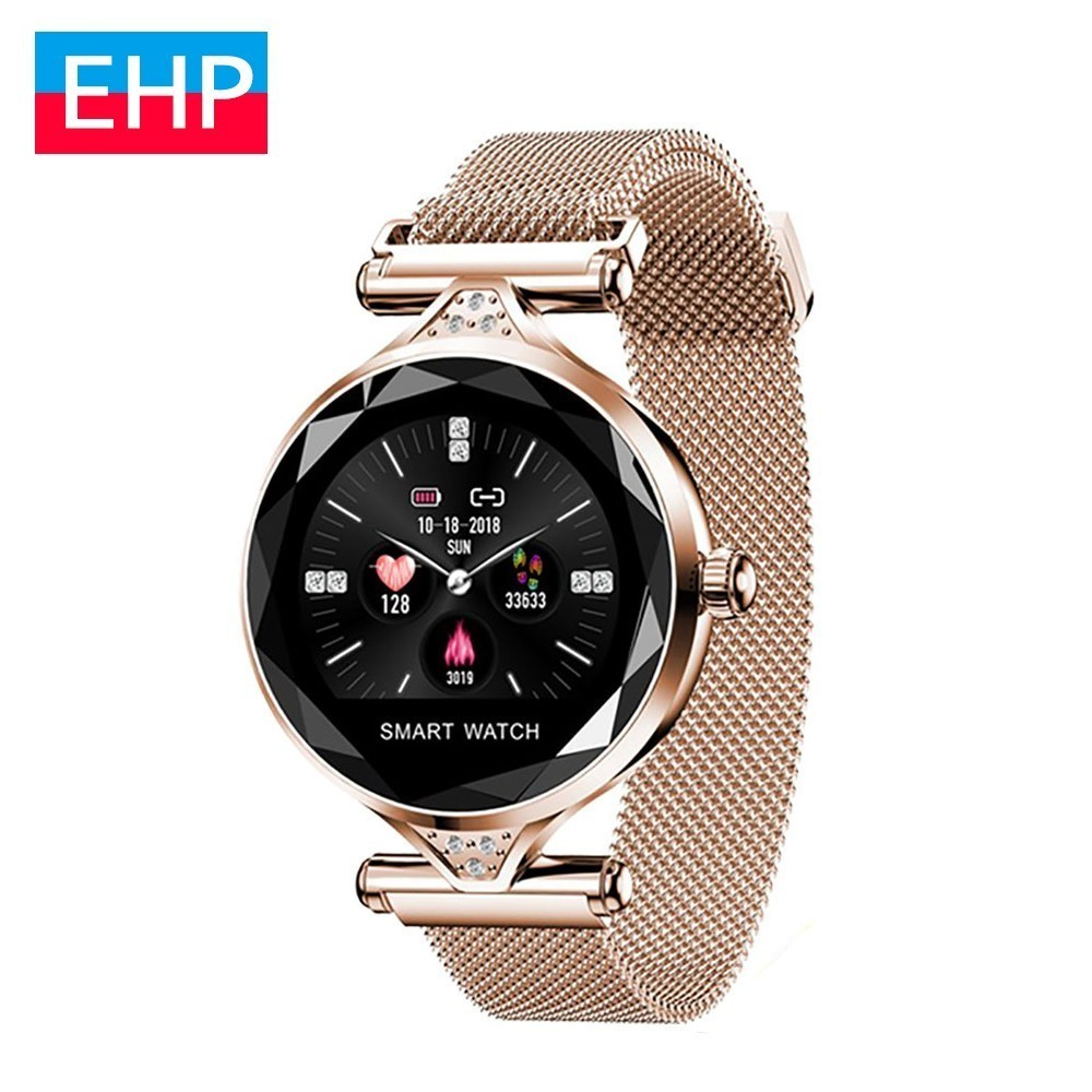 Montre intelligente pour femme Reloj Inteligente moniteur de fréquence cardiaque traqueur de Fitness dame Smartwatch bracelet Bluetooth pour Apple Iphone