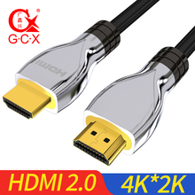 GCX 2.0 HDMI Cable 4K 60FPS Male to Male for Splitter Switch TV LCD Laptop PS3 Projector 0.5M 1M 2M 3M 5M 8M 10M Computer Cable vention hdmi 2 0 cable gold plated 4k 2k 60hz uhd hdmi cable 1m 2m 3m 5m 8m 10m for hd tv lcd laptop for ps3 projector computer