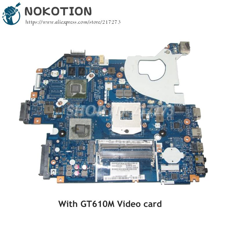 NOKOTION MBBYL02001 LA-6901P Laptop Motherboard For Acer aspire 5750 5750G MAIN BOARD HM65 DDR3 GT610M Video card mbrr706001 mb rr706 001 laptop motherboard fit for acer aspire 5749 series da0zrlmb6d0 c0 hm65
