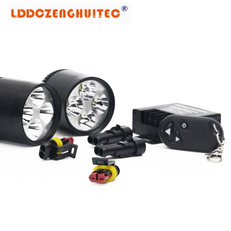 LDDCZENGHUITEC Motorcycle Headlights Moto Led Driving Spotlights Offroad Car ATV SUV boat Headlamp Fog Spot Head Lights Lamp