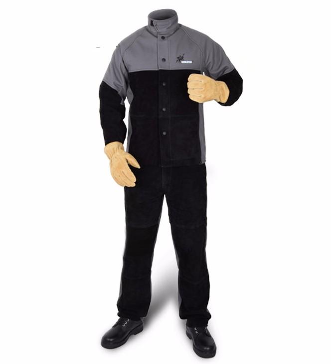 Ropa de soldadura chaqueta y pantalon resistente al fuego